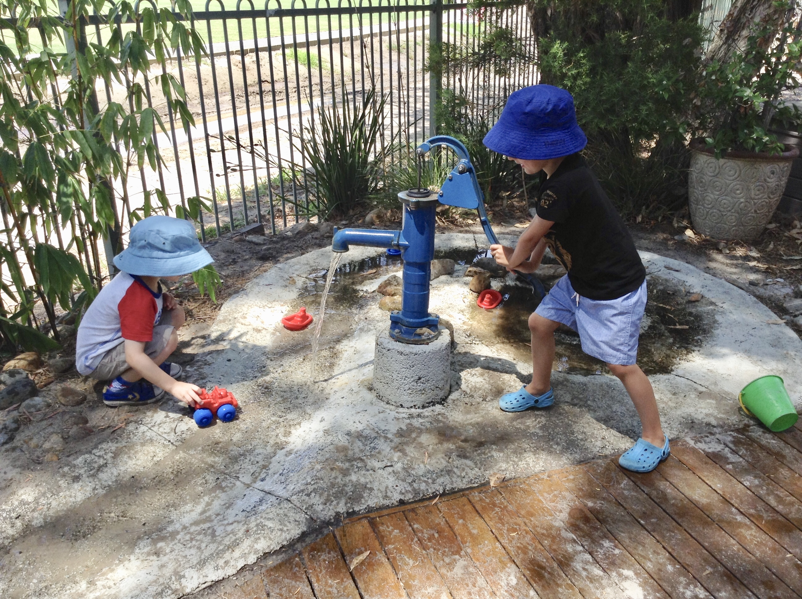 Water play at Jack and Jill Kindergarten Beaumaris